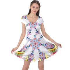 Colorful Chromatic Psychedelic Cap Sleeve Dress