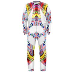 Colorful Chromatic Psychedelic Onepiece Jumpsuit (men)