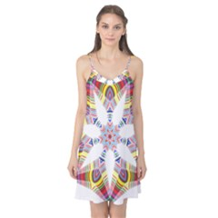 Colorful Chromatic Psychedelic Camis Nightgown