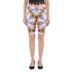 Colorful Chromatic Psychedelic Yoga Cropped Leggings