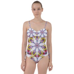 Colorful Chromatic Psychedelic Sweetheart Tankini Set