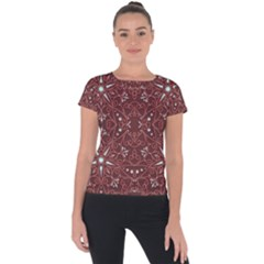 Majestic Pattern B Short Sleeve Sports Top