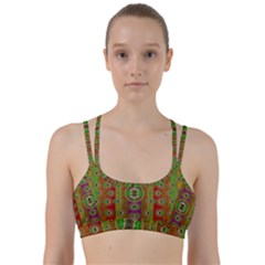 Rainbow Flowers In Heavy Metal And Paradise Namaste Style Line Them Up Sports Bra
