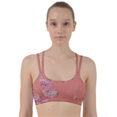 Flower Illustration Rose Floral Pattern Line Them Up Sports Bra