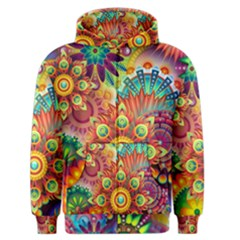 Colorful Abstract Pattern Kaleidoscope Men s Zipper Hoodie