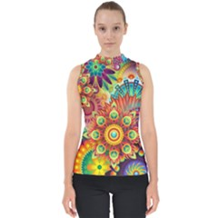 Colorful Abstract Pattern Kaleidoscope Shell Top