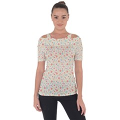 Colorful Pink Floral Cute Pattern Short Sleeve Top