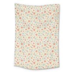 Colorful Pink Floral Cute Pattern Large Tapestry