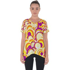 Retro Pattern 1973f Cut Out Side Drop Tee