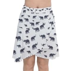 Elephant Pattern Chiffon Wrap