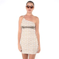 Burger Pattern One Soulder Bodycon Dress