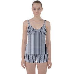 Barcode Tie Front Two Piece Tankini