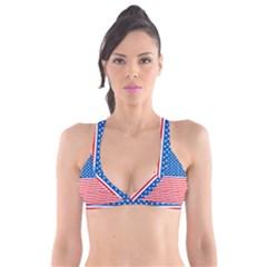 Usa Flag Plunge Bikini Top