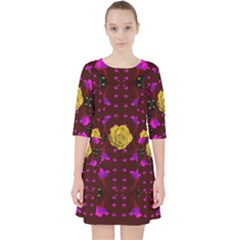 Roses In The Air For Happy Feelings Pocket Dress