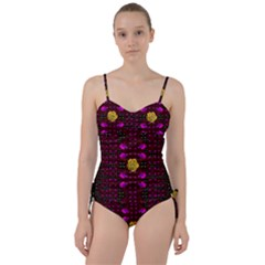 Roses In The Air For Happy Feelings Sweetheart Tankini Set