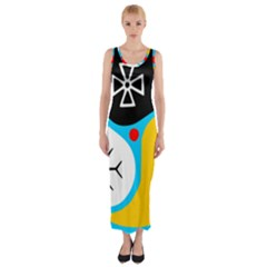 Assianism Symbol Fitted Maxi Dress