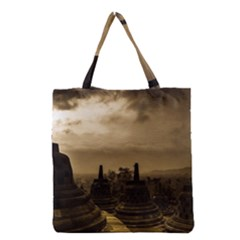 Borobudur Temple Indonesia Grocery Tote Bag