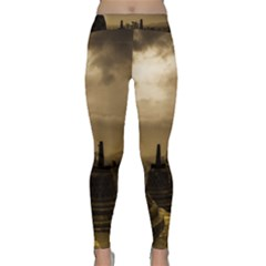 Borobudur Temple Indonesia Classic Yoga Leggings
