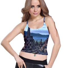 Borobudur Temple  Morning Serenade Spaghetti Strap Bra Top