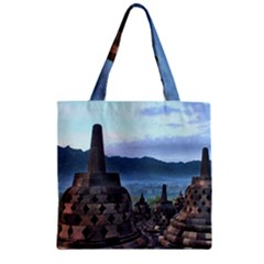 Borobudur Temple  Morning Serenade Zipper Grocery Tote Bag