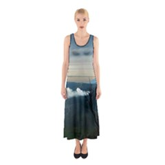 Bromo Caldera De Tenegger  Indonesia Sleeveless Maxi Dress