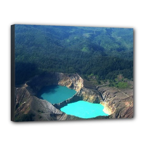 Kelimutu Crater Lakes  Indonesia Canvas 16  X 12