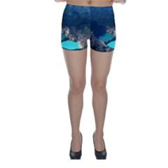 Kelimutu Crater Lakes  Indonesia Skinny Shorts