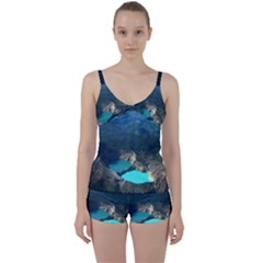Kelimutu Crater Lakes  Indonesia Tie Front Two Piece Tankini