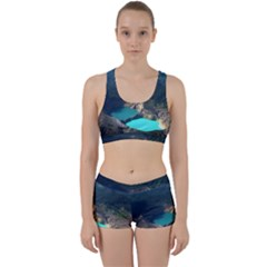 Kelimutu Crater Lakes  Indonesia Work It Out Sports Bra Set