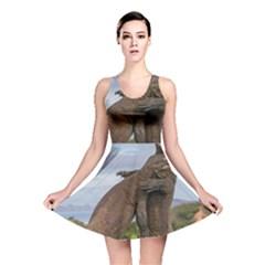 Komodo Dragons Fight Reversible Skater Dress