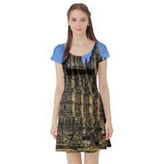 Prambanan Temple Short Sleeve Skater Dress