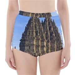 Prambanan Temple High Waisted Bikini Bottoms