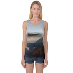 Sunrise Mount Bromo Tengger Semeru National Park  Indonesia One Piece Boyleg Swimsuit