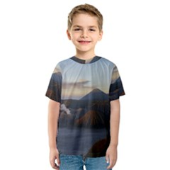 Sunrise Mount Bromo Tengger Semeru National Park  Indonesia Kids  Sport Mesh Tee