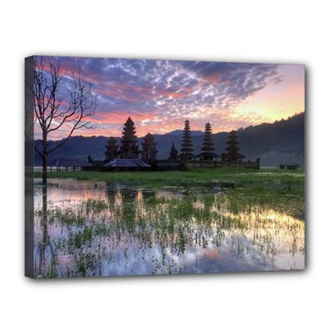 Tamblingan Morning Reflection Tamblingan Lake Bali  Indonesia Canvas 16  X 12