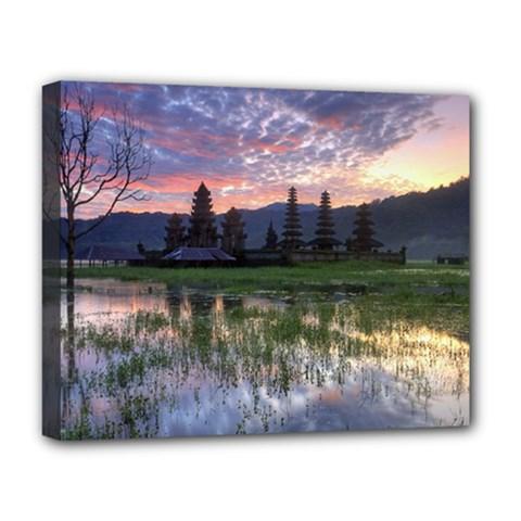 Tamblingan Morning Reflection Tamblingan Lake Bali  Indonesia Deluxe Canvas 20  X 16