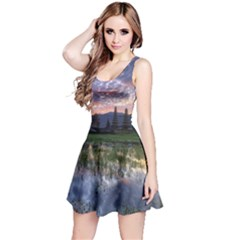 Tamblingan Morning Reflection Tamblingan Lake Bali  Indonesia Reversible Sleeveless Dress