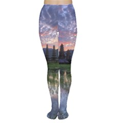 Tamblingan Morning Reflection Tamblingan Lake Bali  Indonesia Women s Tights