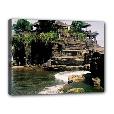 Tanah Lot Bali Indonesia Canvas 16  X 12
