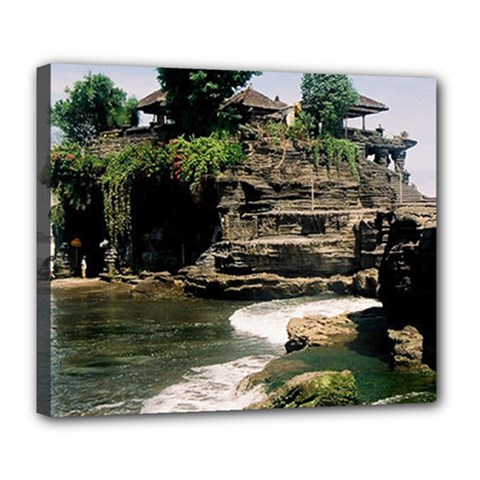 Tanah Lot Bali Indonesia Deluxe Canvas 24  X 20
