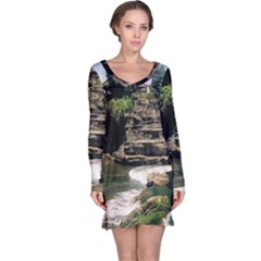Tanah Lot Bali Indonesia Long Sleeve Nightdress