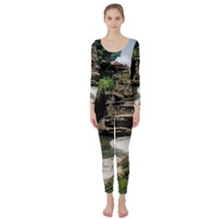 Tanah Lot Bali Indonesia Long Sleeve Catsuit
