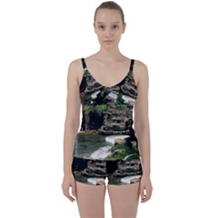 Tanah Lot Bali Indonesia Tie Front Two Piece Tankini