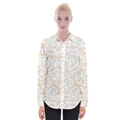 Small Floral Flowers Pattern  Womens Long Sleeve Shirt