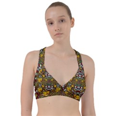 Fantasy Forest And Fantasy Plumeria In Peace Sweetheart Sports Bra