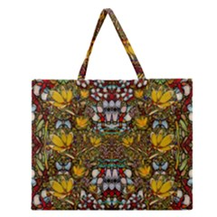 Fantasy Forest And Fantasy Plumeria In Peace Zipper Large Tote Bag