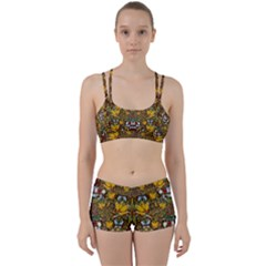 Fantasy Forest And Fantasy Plumeria In Peace Women s Sports Set