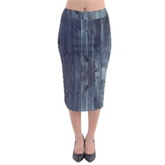 Grey Fence 2 Midi Pencil Skirt