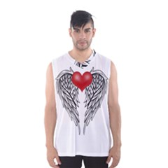 Angel Heart Tattoo Men s Basketball Tank Top