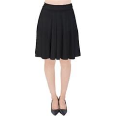 Black Velvet High Waist Skirt